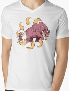 UPickVG 5 Mammoth by Fusspot Mens V-Neck T-Shirt
