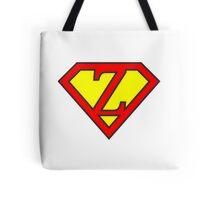 Z letter in Superman style Tote Bag