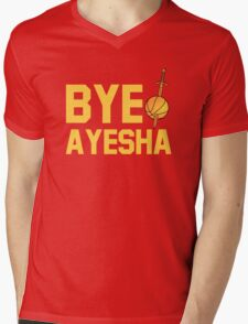 BYE AYESHA Mens V-Neck T-Shirt