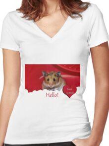 Animal Welfare Women's Fitted V-Neck T-Shirt