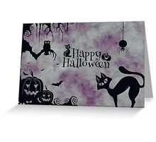 Spooky Happy Halloween Greeting Card & Stickers Greeting Card