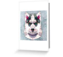 abstract husky Greeting Card