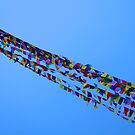 Prayer Flags in Kathmandu by John Dalkin