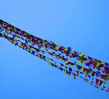 Prayer Flags in Kathmandu by John Dalkin