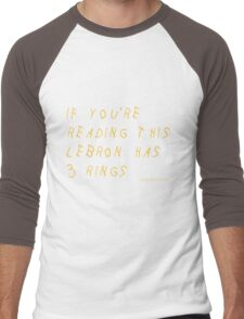 Lebron James Rings Finals 2016 NBA Men's Baseball ¾ T-Shirt