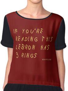 Lebron James Rings Finals 2016 NBA Women's Chiffon Top