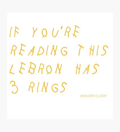 Lebron James Rings Finals 2016 NBA Photographic Print