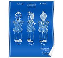 Creepy Doll Patent - Blueprint Poster