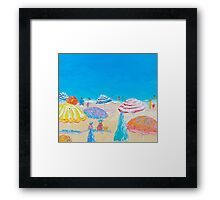 Impressionist beach painting Framed Print
