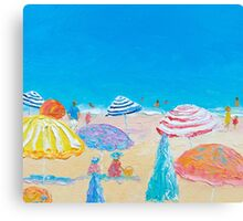 Impressionist beach painting Canvas Print