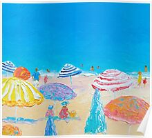 Impressionist beach painting Poster