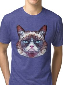 abstract cat Tri-blend T-Shirt