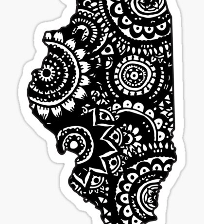Illinois Outline Doodle Sticker
