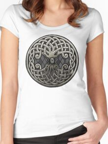 Yggdrasil Celtic Viking World Tree of Life Women's Fitted Scoop T-Shirt