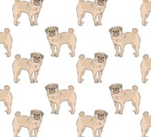 Pug dogs Sticker