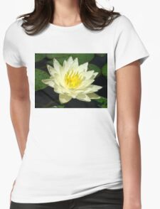 White Lilly Womens Fitted T-Shirt