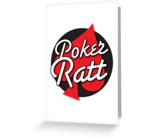 Poker Ratt with spade suit Greeting Card