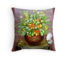 irrigate flowers  Throw Pillow
