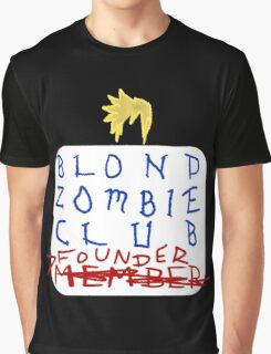 Blond Zombie Club- Founder (Black) Graphic T-Shirt