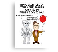 Doctor Who Father's Day Card (Personalised) Canvas Print