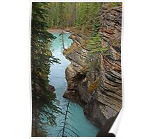 Downstream from Athabasca Falls Poster