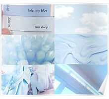 Baby Boy Blue Aesthetic Poster