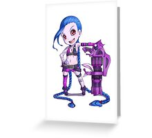 Sexy MMO Girl Greeting Card