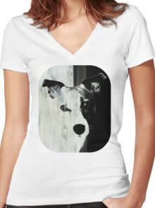 Jack Russell Terrier T-shirt Women's Fitted V-Neck T-Shirt