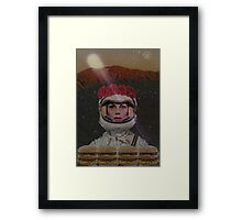 Burgers in space Framed Print