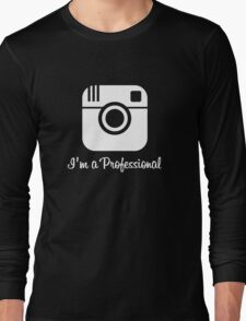 Professional Photographer Dark Long Sleeve T-Shirt