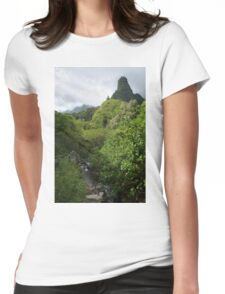 Iao Valley Monument Womens Fitted T-Shirt