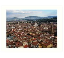 Rooftops Of Florence Art Print