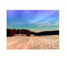 Amazing vivid winter wonderland | landscape photography Art Print