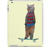 the cat skate  iPad Case/Skin