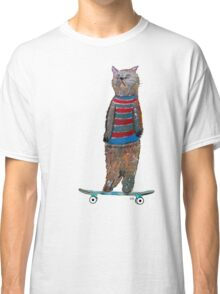 the cat skate  Classic T-Shirt