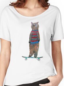 the cat skate  Women's Relaxed Fit T-Shirt
