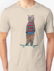 the cat skate  Unisex T-Shirt