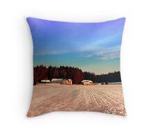 Amazing vivid winter wonderland | landscape photography Throw Pillow