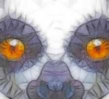 abstract lemur Sticker