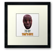 Lebron James Funny  Framed Print