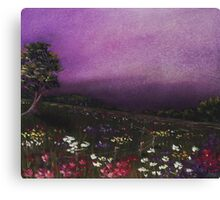 Purple Meadow Canvas Print