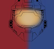 Red Vs Blue Poster by PMckennaDesigns