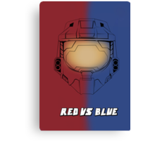 Red Vs Blue Poster Canvas Print