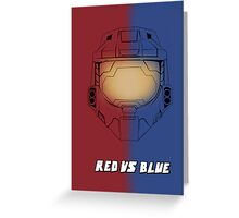 Red Vs Blue Poster Greeting Card