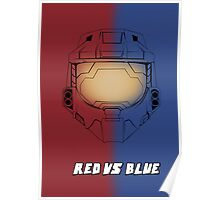Red Vs Blue Poster Poster