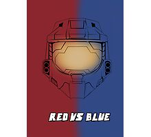 Red Vs Blue Poster Photographic Print
