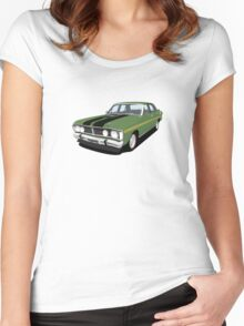 Ford Falcon XY GT - Monza Green Women's Fitted Scoop T-Shirt