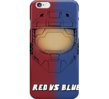 Red Vs Blue Poster iPhone Case/Skin