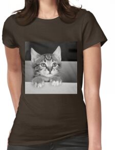 Kitten in a box 2 (Clothing Products) Womens Fitted T-Shirt