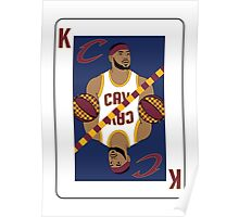 King James Playing Card Poster